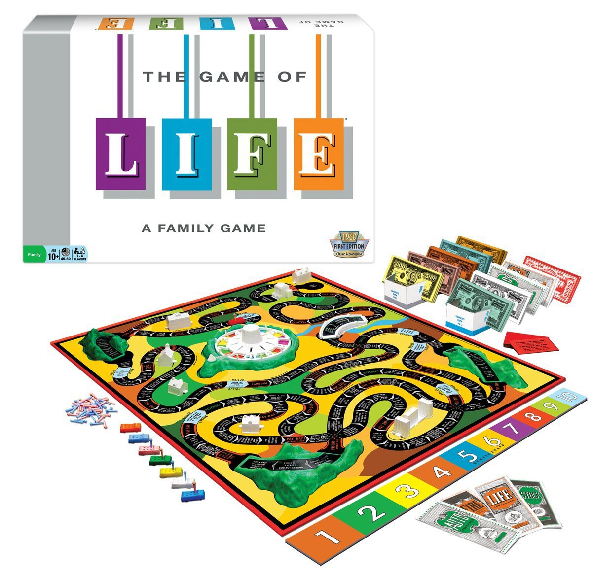 THE GAME OF LIFE BOARD GAME ORIGINAL FIRST EDITION 1960s VERSION BRAND NEW - Vintage Manufacture