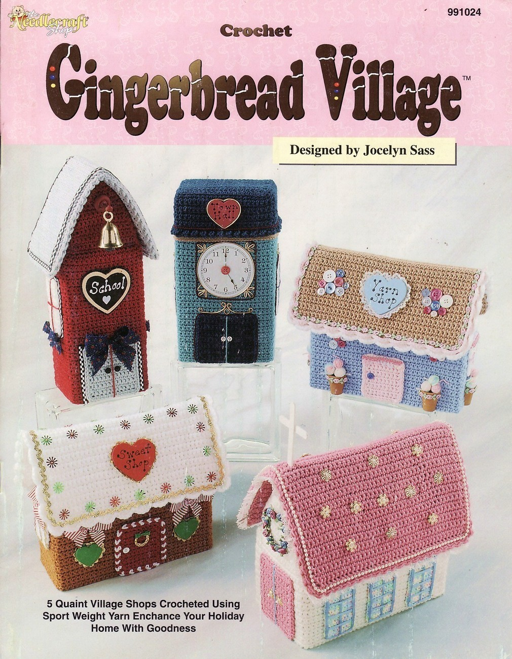 Gingerbread Village Crochet Patterns Book Fancy Holiday Christmas ...