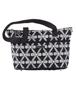 Bonjour Taylor Cotton Handbag Black & White Pur... - $35.95
