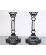 Vintage Crystal Column Candle Sticks Fancy  5.2... - $12.99