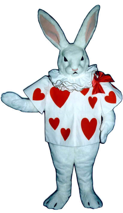 PROFESSIONAL MASCOT ALICE IN WONDERLAND WHITE RABBIT