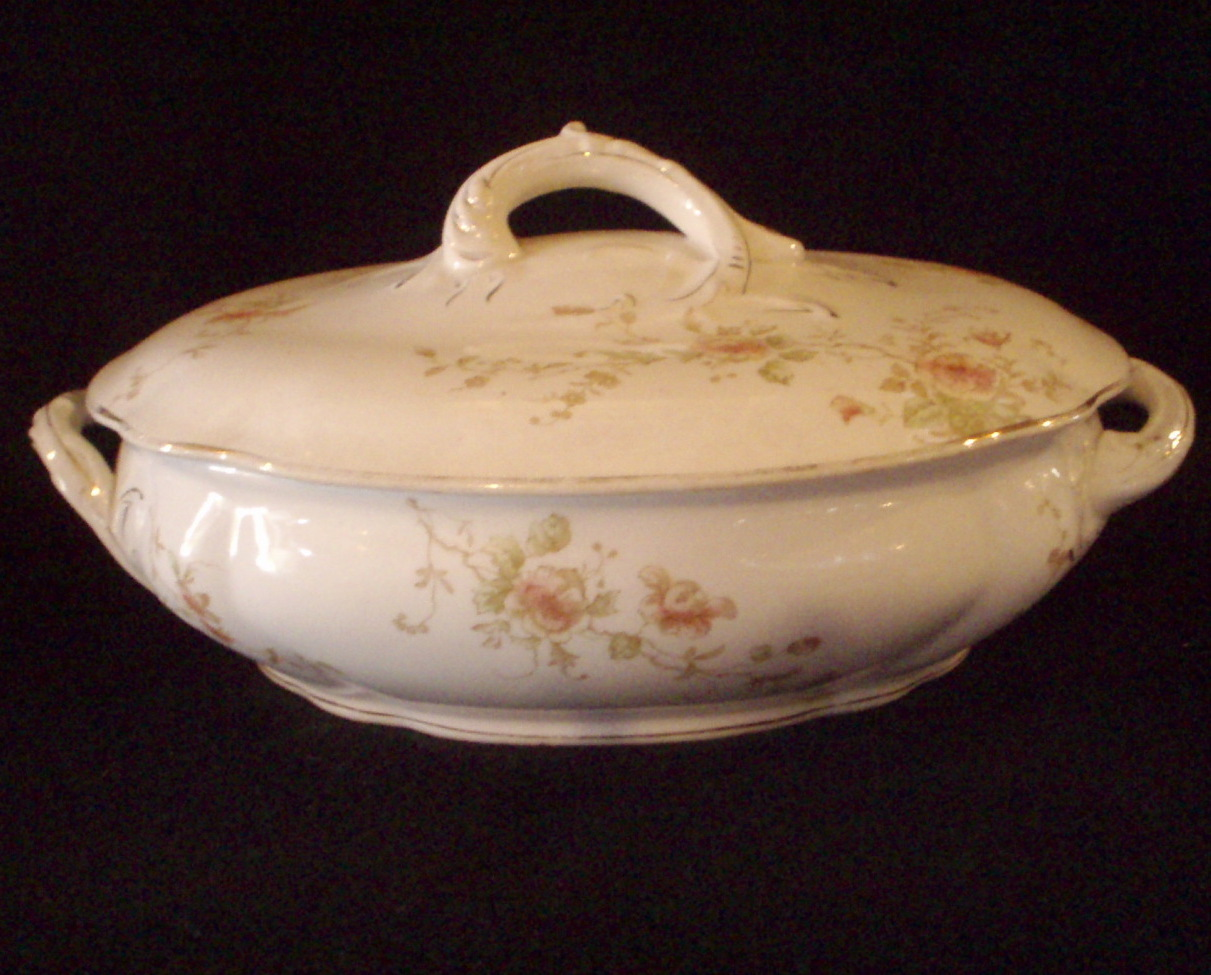 covered Vegetable dish antique Maddock Works  Lamberton