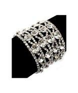Bridal Wedding Jewelry Crystal Rhinestone 4 Row... - $33.60