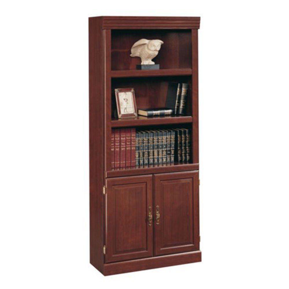 Cherry 5 Shelves Bookcase Bookshelf Furniture Wood Library Study Adjustable New - Bookcases