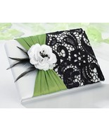 Green & Black Guest Book Wedding Reception Sign... - $21.00