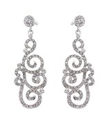 Bridal Wedding Crystal Rhinestone Swirl Vintage... - $12.50