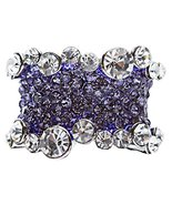 Bling Crystal Rhinestone Stretch Adjustable Fas... - $8.60