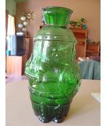 Vintage  Green Glass Vase Italy