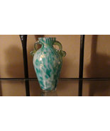 Vintage Art Glass Murano Hand Blown Blue Swirl ... - $28.00