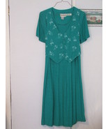 Karen Stevens Ladies Vest Dress Sz 12 Green print - $4.00