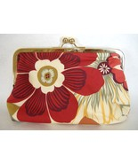 Ava Anemone Floral Print Purse Handcrafted Hand... - $70.00