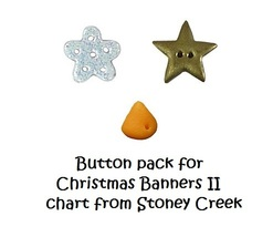 BUTTON PACK for Christmas Banners II L291 cross... - $4.00