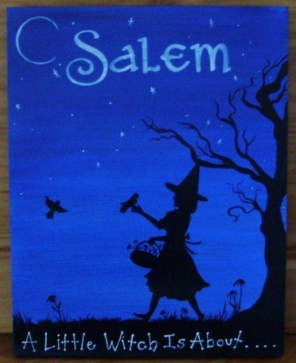 Garden Witch Child Painting Witches Hippies Summer Birds Flowers Magic Wiccan