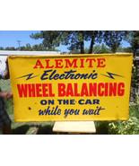 Vintage Sign Alemite Wheel Balancing On the Car... - $1,107.85