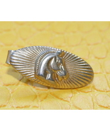 Vintage horse head sunburst tie clip clasp pin ... - $9.99