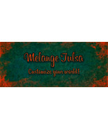 Bonanza Booth Banner- Orange Letters on Teal - $3.59