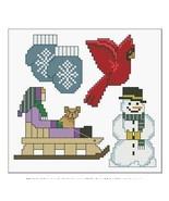 Little Bits of Winter cross stitch card chart L... - $6.00