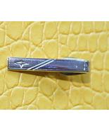 Vintage star textured silver tone tie clip clas... - $9.99