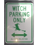 Halloween Witch Parking Only No Parking Broom L... - $3.99