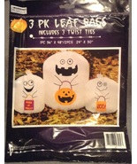 3 Trick-or-treat Ghost Halloween Leaf Lawn Bags... - $3.99