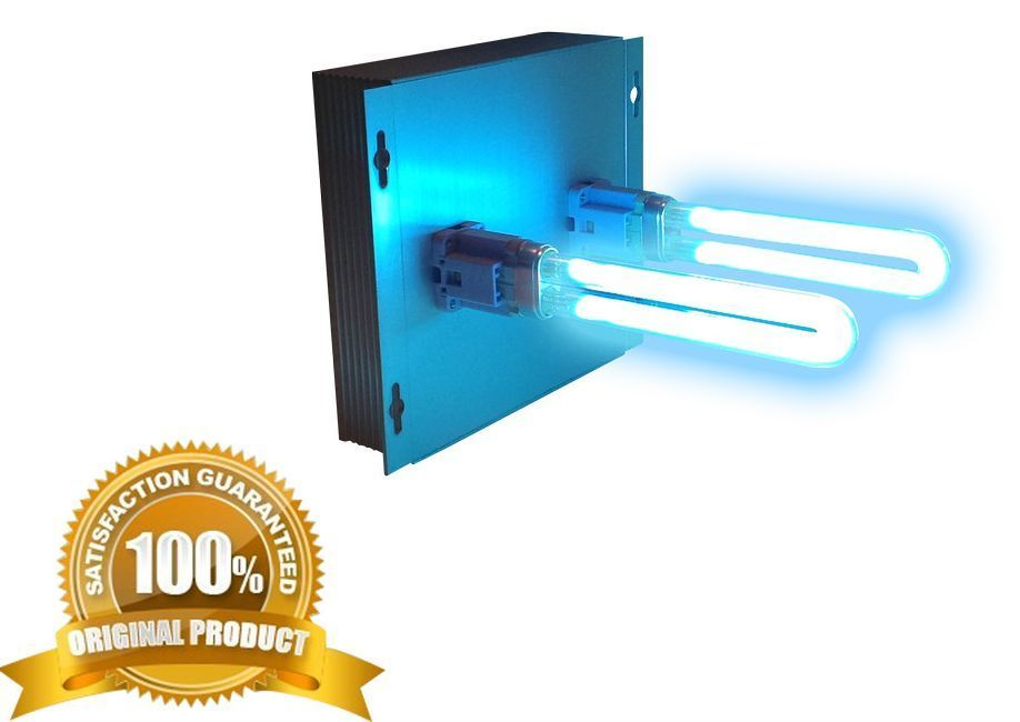 uv light in duct for hvac ac duct germicidal dual lamp air cleaners. Black Bedroom Furniture Sets. Home Design Ideas