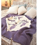 W834 Crochet PATTERN ONLY Dragonfly Afghan Thro... - $8.45
