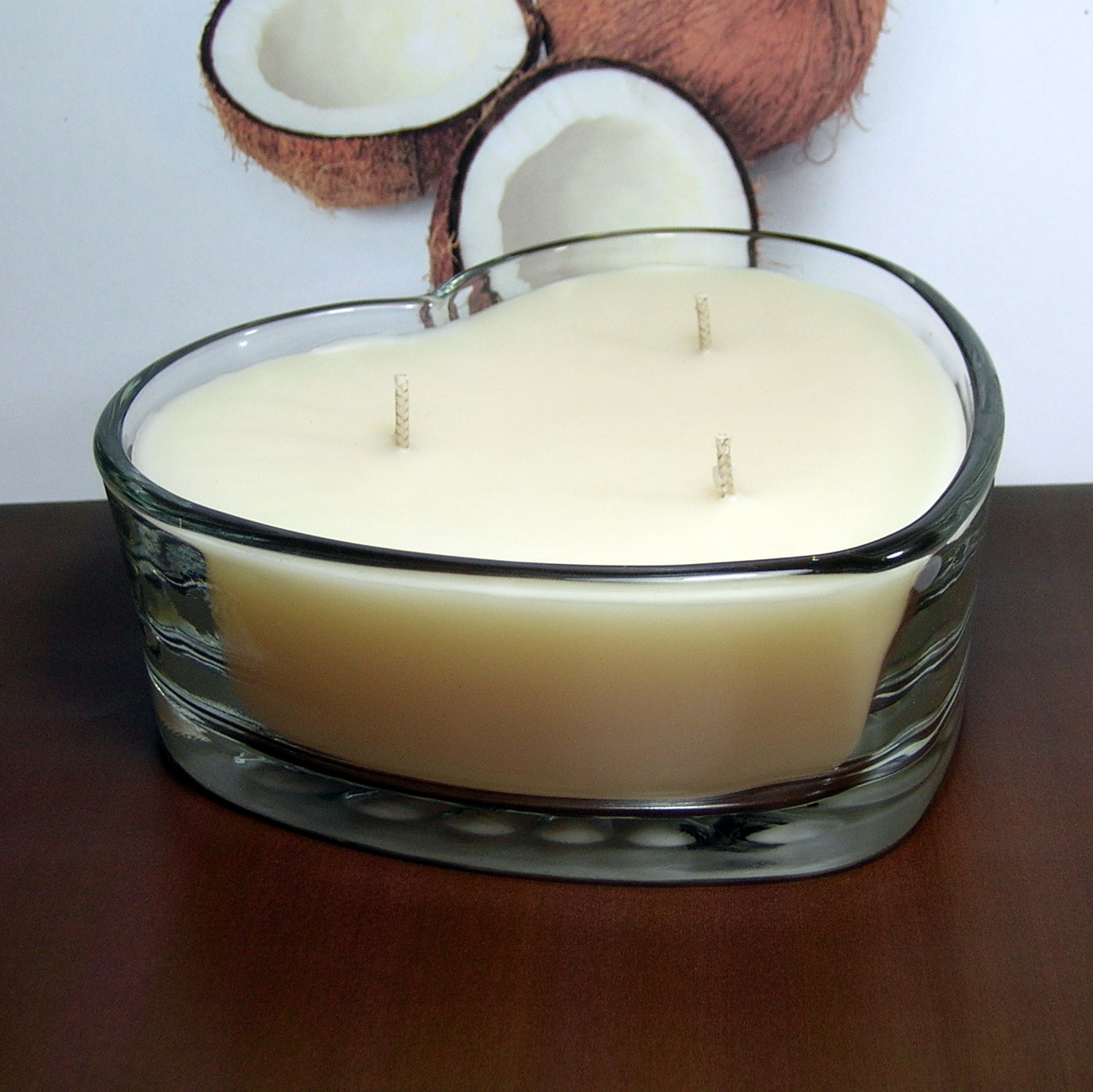 Coconut PURE SOY Heart Container Candle