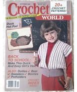 Crochet World, Oct, 1987-- Back Issue, Volume 1... - $5.00