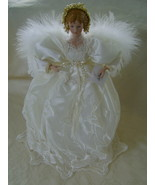 Angel, Tree or Table Top Decoration, Lace w/Por... - $25.00