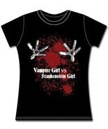 Vampire Girl Vs Frankenstein Girl Juniors Large... - $13.99