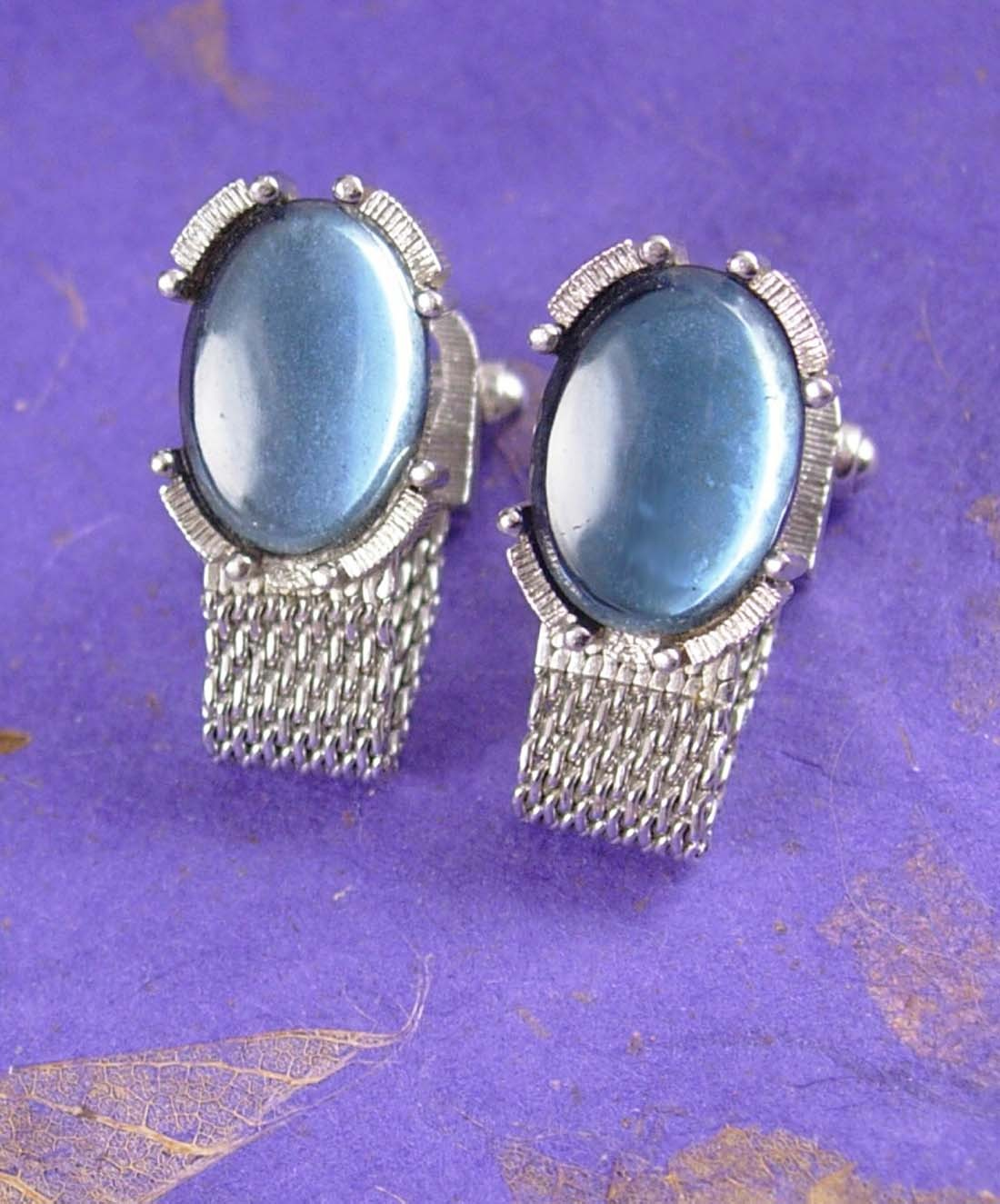 moonglow elegance vintage cufflinks silver mesh wrap ForWhat Is Swank Jewelry