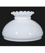 White Milk Glass Hobnail Student Lamp 10 in Glo... - $52.95