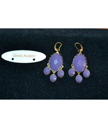 NWT $85 DAVID AUBREY Purple Resin Oval Drop Ear... - $19.57