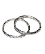 12mm TWIST SOLID .925 STERLING SILVER HINGED HO... - $11.39