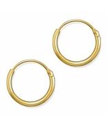 MENS 12mm 14K GOLD FILLED ENDLESS HOOP EARRINGS... - $10.97