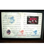 RARE!! THE KINKS FRAMED SHEET MUSIC + 5 AUTHENT... - $75.00