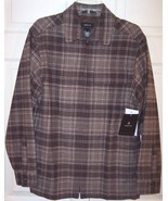 NWT Claiborne Men's Brown Plaid Lined Part Wool... - $45.00