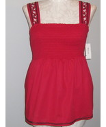 Style & Co Lds Bright Red Sleeveless Smock Top ... - $22.00