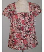 Style & Co  100% Cotton Print Smock Size 6 NWT - $11.00
