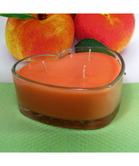 Apricot and Cream PURE SOY Heart Container Cand... - $12.50