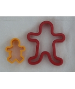 2 Gingerbread Man Cookie Cutters, Father and Ch... - $2.99