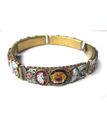 Vintage Italy Micro Mosaic Link Bracelet Italy ... - $120.00