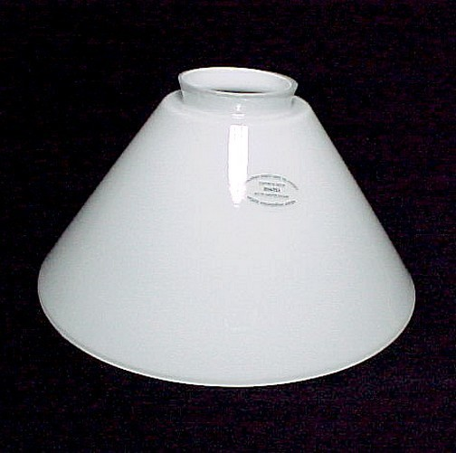 Vianne Cone White Glass Light Lamp Shade 2 1 4 X 4 X 8 in Pendant Wall Sconce