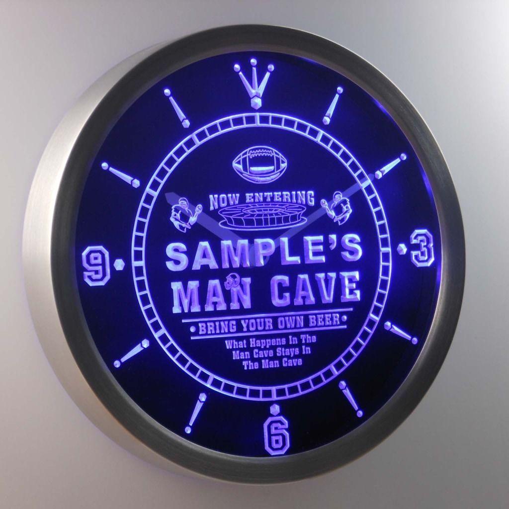 Man Cave Signs Nz : New bar beer football man cave neon clock light