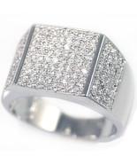 New Mens 14K White Gold Fn Lab Diamond Engageme... - $23.75
