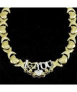 Ladies 14K Yellow Gold Fin Lab Diamond XO I Lov... - $98.99