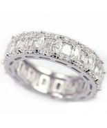 Ladies White Gold Fin Lab Diamond Infinity Prin... - $69.29