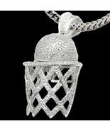 Mens Ladies White Gold Fin. Lab Diamond Basketb... - $64.34