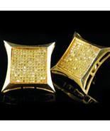Mens 1.25CT Real Diamond Yellow Gold Fn Screw B... - $296.99