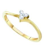 10Kt Yellow Gold 0.06Ctw  Diamond  Heart Bridal... - $115.83